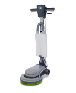 A domestic lightweight scrubbing machine for floors and carpet maintenance which is compact, convenient and quick to use