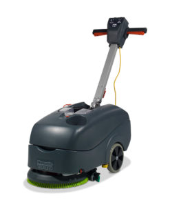 A compact scrubber dryer for terrazzo, tiles and ceramic floors. Capacity; 18L