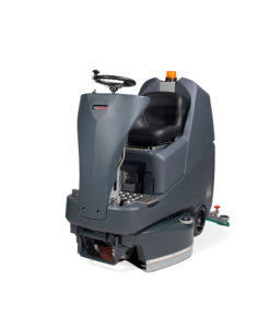 A friendly user industrial quiet ride on scrubber drier machine and versatile with 3 adjustable widths
